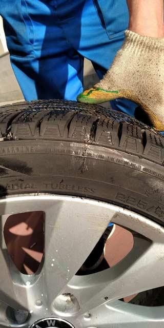 боковые порезы на шинах ремонт